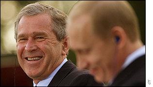 Bush and Putin, BFF