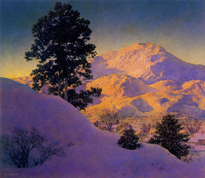 "Winter Sunrise"", Maxfield Parrish"