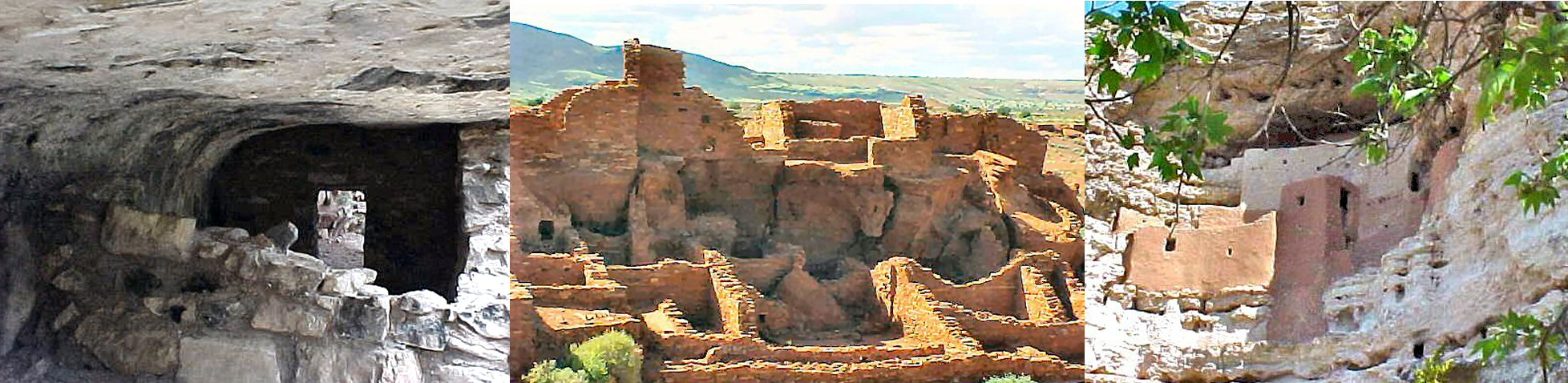 Sinagua Ruins (Hopi ancestors) at Walnut Canyon, Wupatki, and Montezuma Castle, Arizona