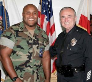 Christoper Jordan Dorner with Chief William Bratton (formerly NYC Police Chief)