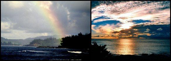 Owhyhee 4Hanalei Bay, Atooi                                   Sunset, Mowee