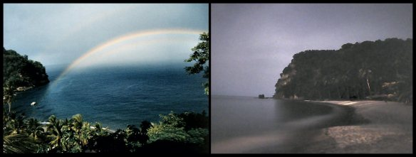 Rainbow over Soufriere Bay and Night Scene at Anse Chastanet