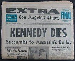RFK dies headline LA Times