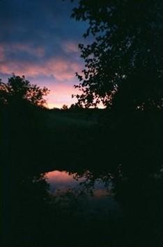 Fading Sunset Reflection