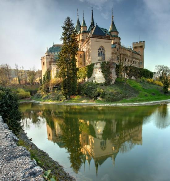 The Bojnice Castle in Bojnice, Slovakia