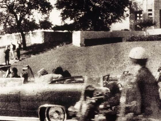 JFK fatal shot, Polaroid by Mary Ann Moorman