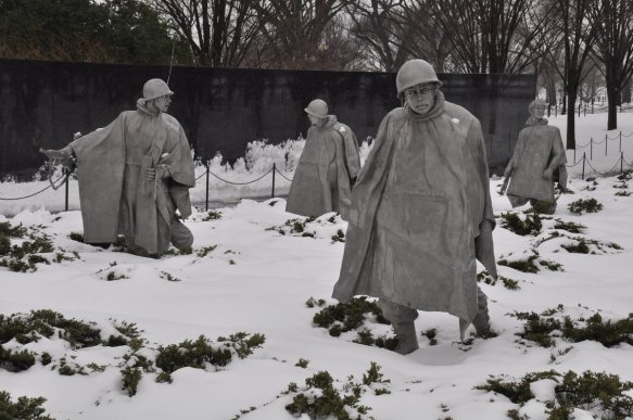 Korean War Memorial in the Snow 04