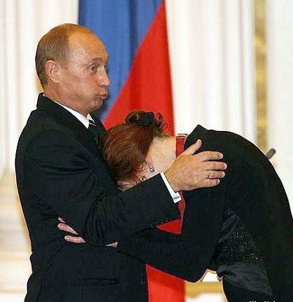 Vladimir Putin and unknown woman