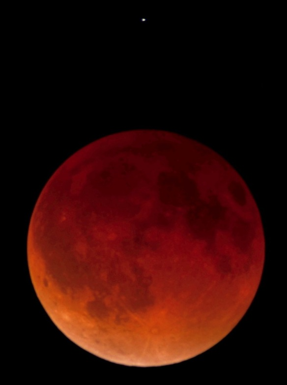 Lunar Eclipse April 2014 - photo by Astrophotographer Joel O'Bryan