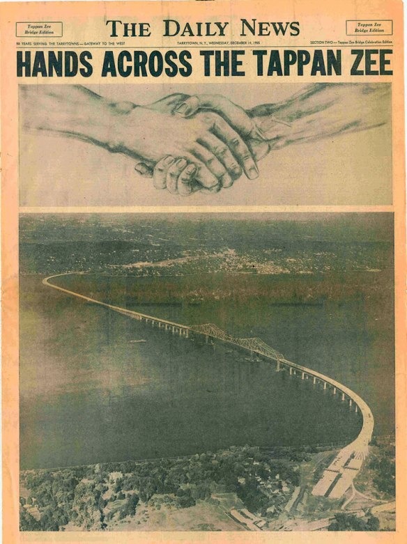 """NY """"Daily News"""" special Tappan Zee Bridge Edition, Wednesday, December 14, 1955"""