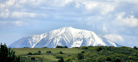 Snow on the Peak, Green Grass on the Meadow, June 1 2015