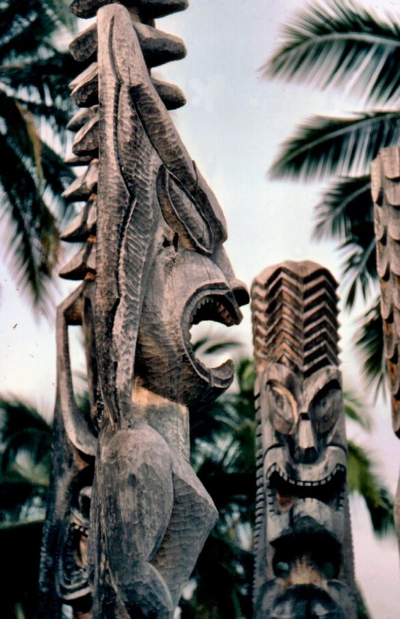 Tikis at Kona