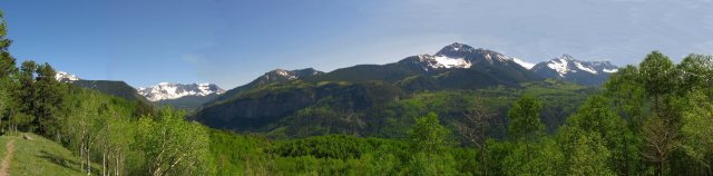 Mt. Wilson, 14246 ft, in the Uncompahgre National Forest near Telluride, Colorado; July 2007