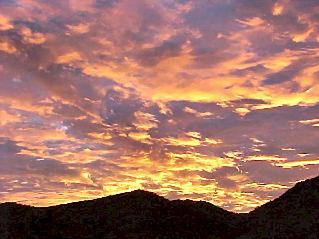 Sunset over the Buenos Aires National Wildlife Refuge, Arivaca Arizona; 2003