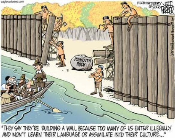 Plymouth Rock wall