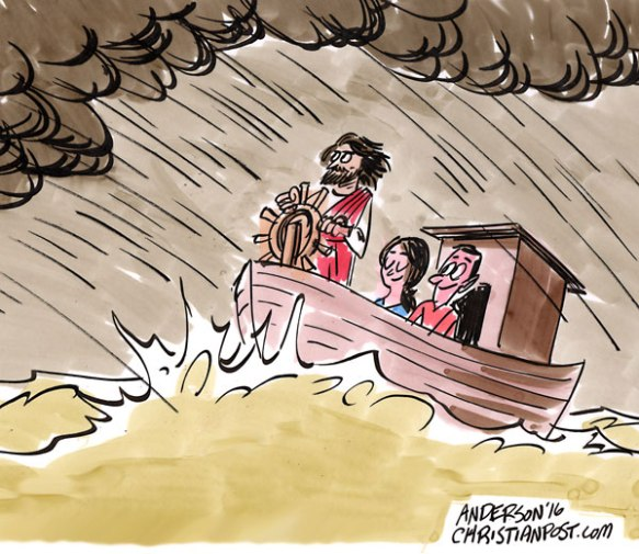 """""""God Is In Control!"""" by Christian Post cartoonist Don Anderson"""