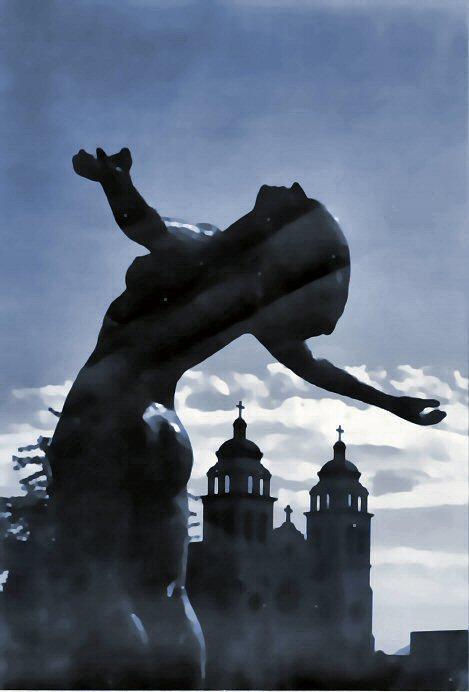 Phx Plaza Statue ca 1977-a