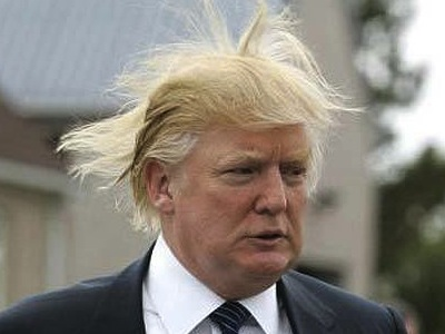 Can't even rule his own herr, er, hair