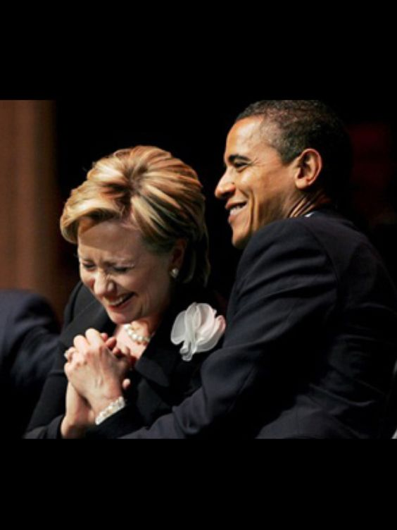 Hillary's losing it, but Obama is happy to provide support