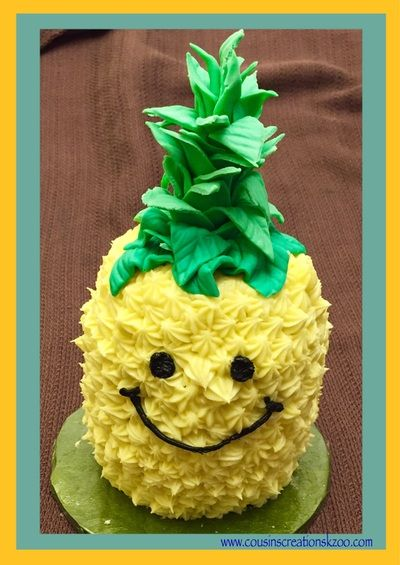 bday cake pineapple