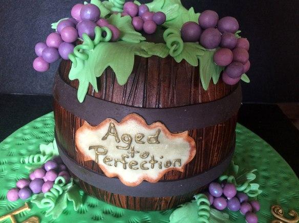 bday cake wine